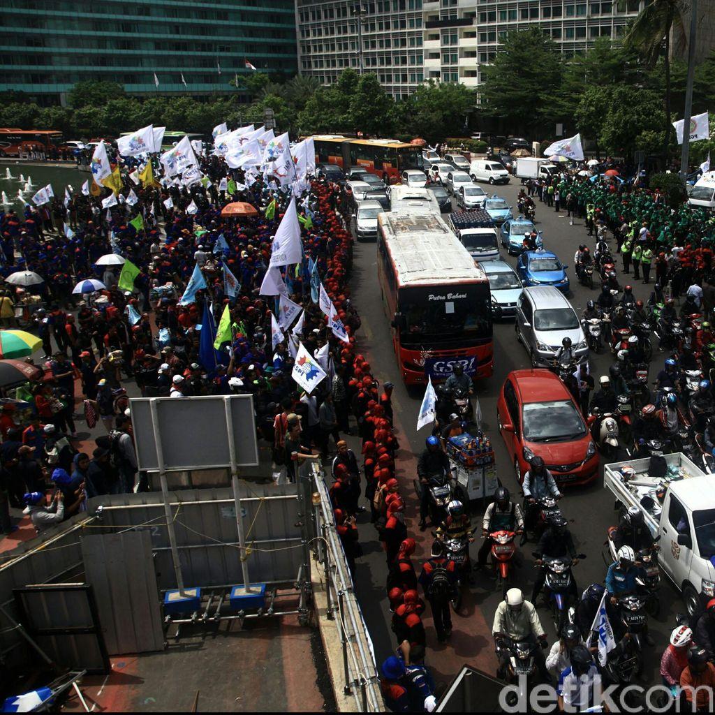 8.542 Personel Kepolisian Siap Amankan Demo Buruh Hari ini