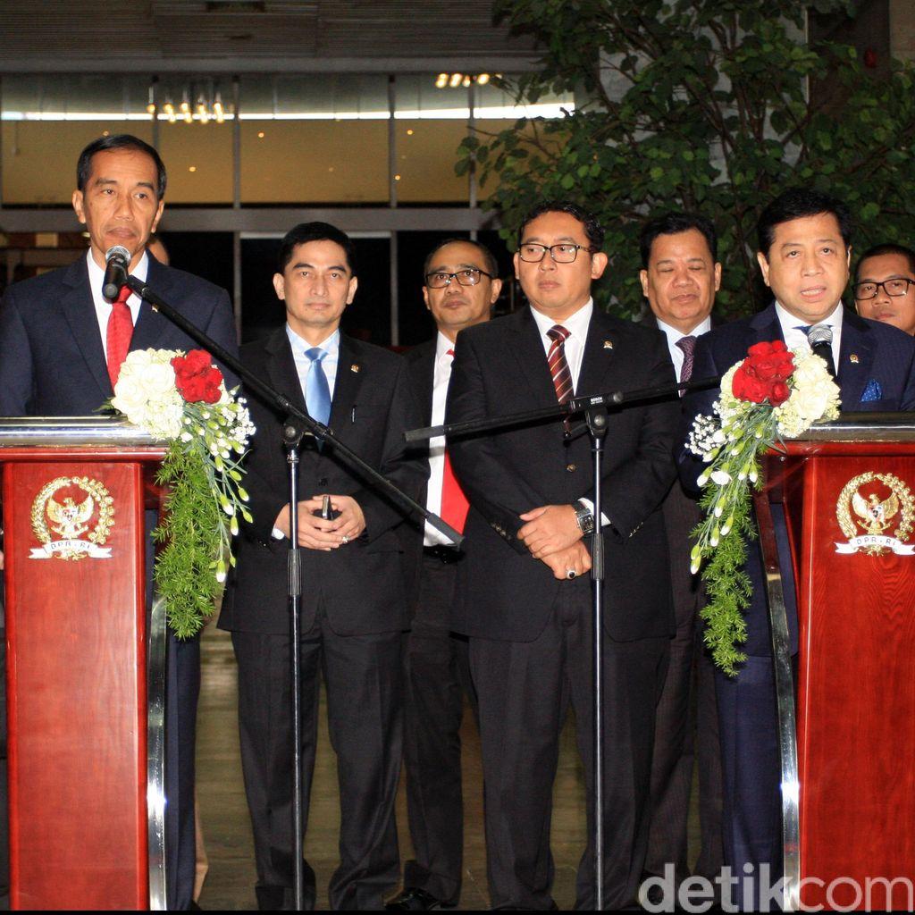 Ditemani Puan dan Yasonna, Jokowi Bahas Revisi UU KPK dengan Pimpinan DPR