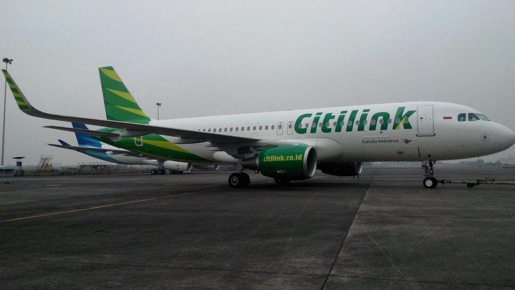 Pesawat Citilink Gangguan di Makassar, Penumpang Diberangkatkan Siang ini