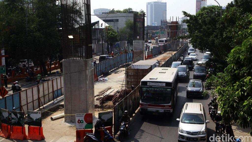 Jalan Layang Bus TransJ dan JLNT Kuningan-Polda Mengunci Kemacetan di Gatsu