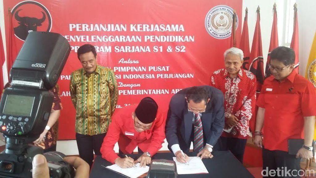 PDIP Kerja Sama dengan STIP Abdi Negara Ciptakan Bibit Kepala Daerah