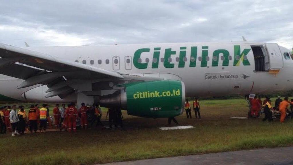 Citilink: Penyebab Pesawat Tergelincir di Padang Bukan karena Ban Pecah