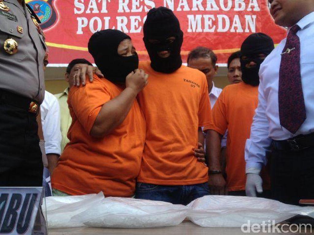 Suami Istri Pengedar Sabu 6 Kg Diamankan Polisi di Medan