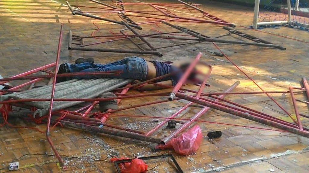 Pekerja Tewas Tertimpa Robohan Steger di GOR Tangerang
