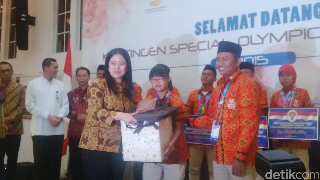Menko Puan Sambut Kontingen Indonesia yang Raih 19 Emas di SOWG 2015