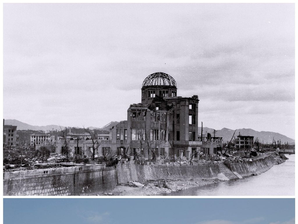 Penampakan Before-After 70 Tahun Bom Atom di Hiroshima