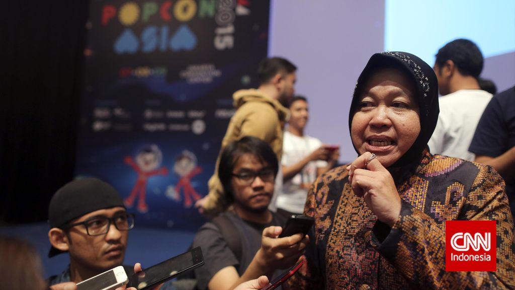 Pilkada Surabaya Molor, Risma Minta Warga Tetap Optimis