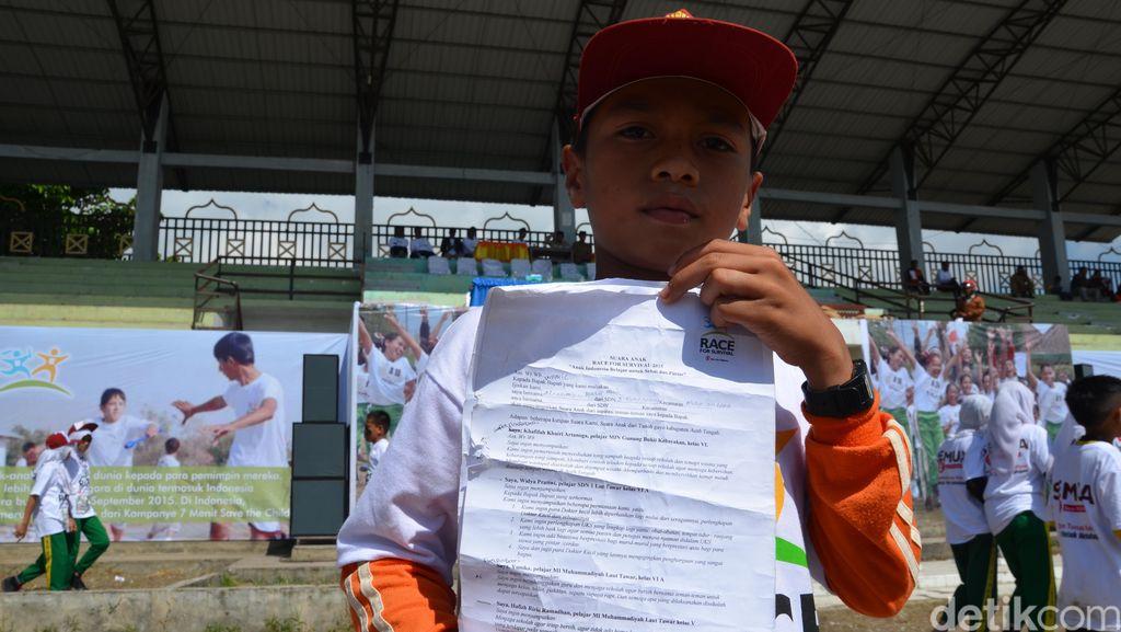 Suara Anak-anak di Aceh Tengah yang Berharap Ada Sekolah Sehat