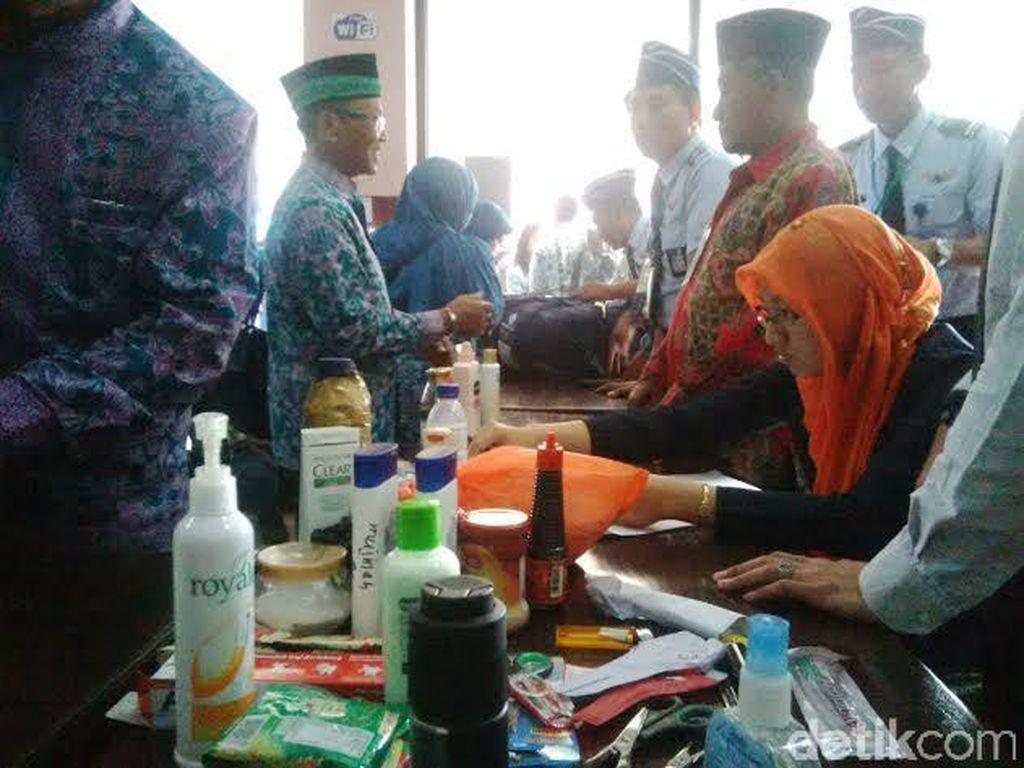 Lotion, Migor dan Detergent Calon Jamaah Haji Disita Petugas Bandara