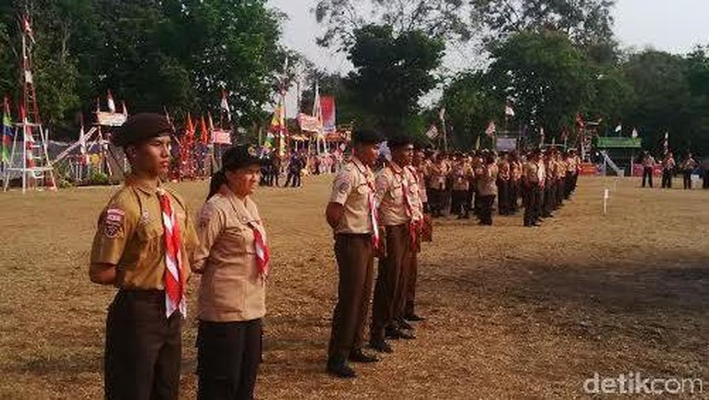 Napi Jawa-Lampung Berkemah di Cibubur, Garis Polisi Membentang