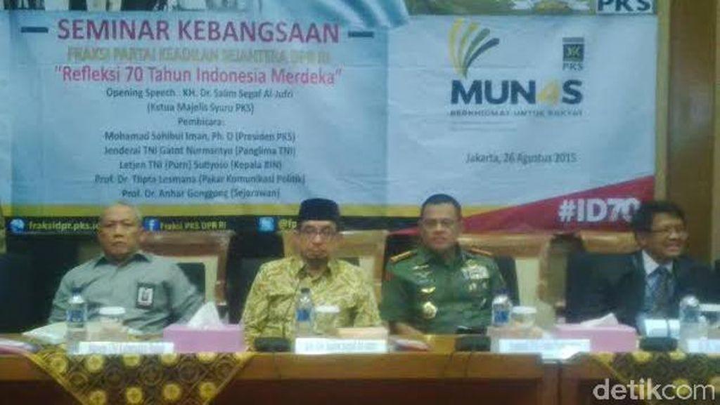 Sambangi DPR, Panglima TNI Jadi Pembicara di Seminar F-PKS