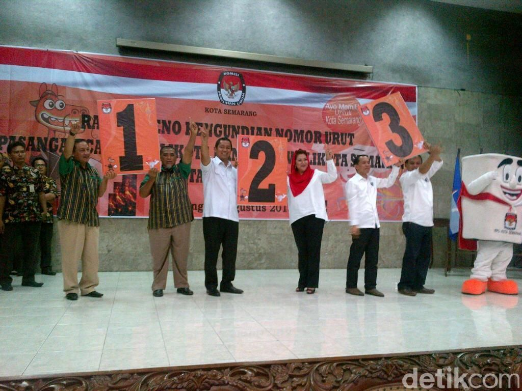 Deklarasi Pilkada Damai, Pasangan Cawalkot Semarang Diarak Siang ini