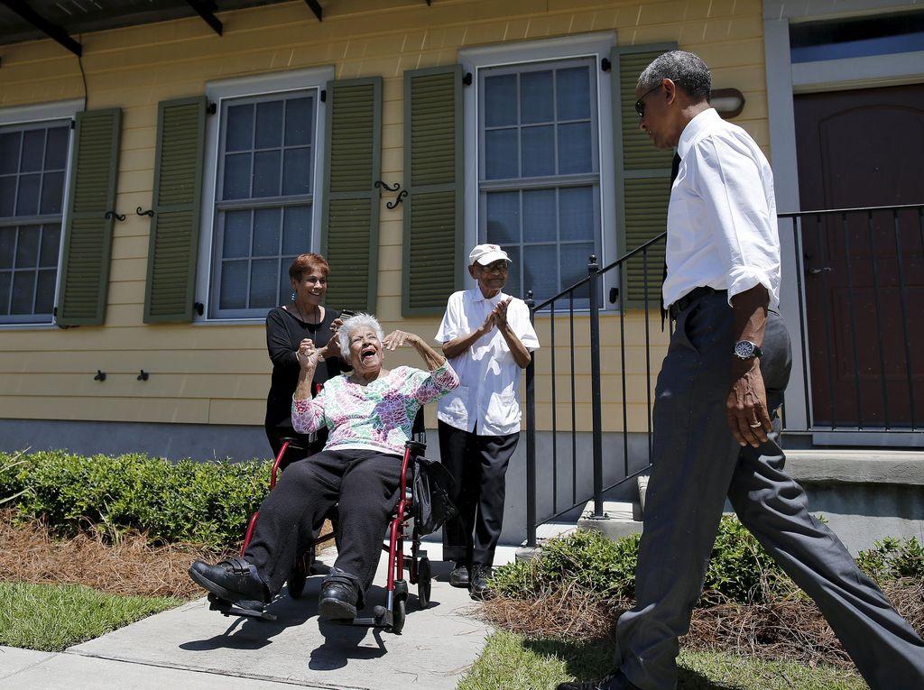 Peringatan 10 Tahun Usai Badai Katrina, Obama Kunjungi New Orleans