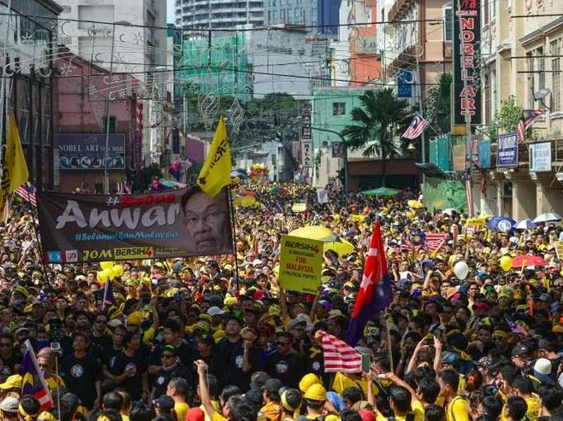 20 Ribu Demonstran Bersih 4.0 Masih Bertahan di Dataran Merdeka