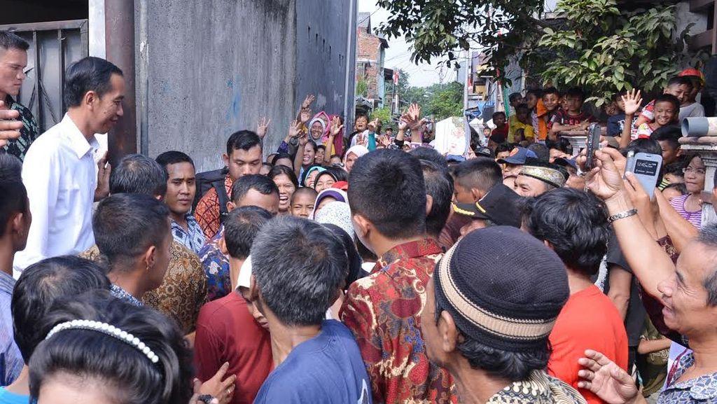 Jokowi Kembali Blusukan di Kampung-kampung di Jakarta, ini Foto-fotonya