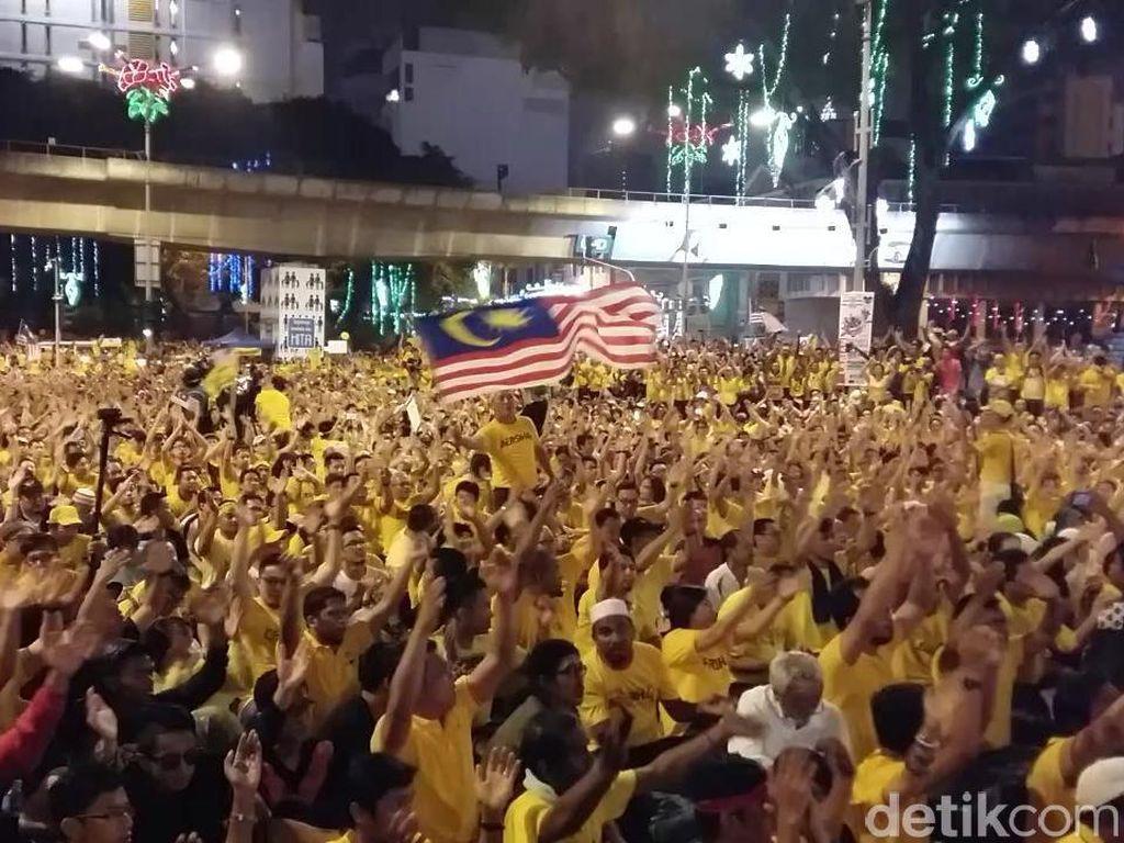 Demonstrasi Bersih 4.0 Bubar, Ribuan Massa Pulang dengan Tertib
