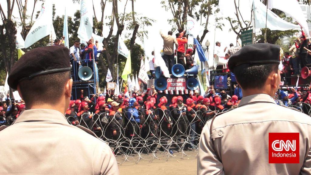 Demo Aman dan Tertib, Kapolda Metro: Terimakasih Rekan Buruh