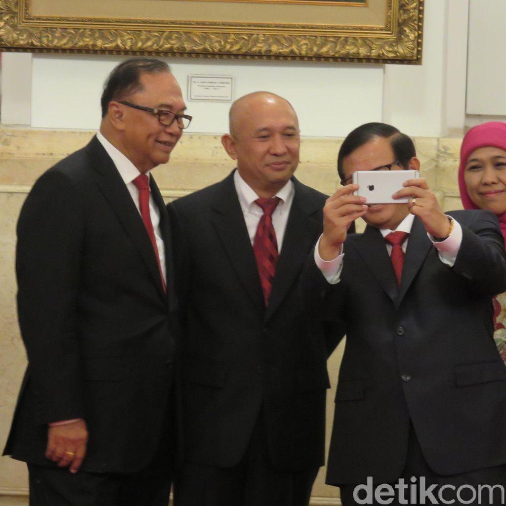 Jelang Pelantikan Kepala Staf Presiden, Teten Selfie dengan Pramono