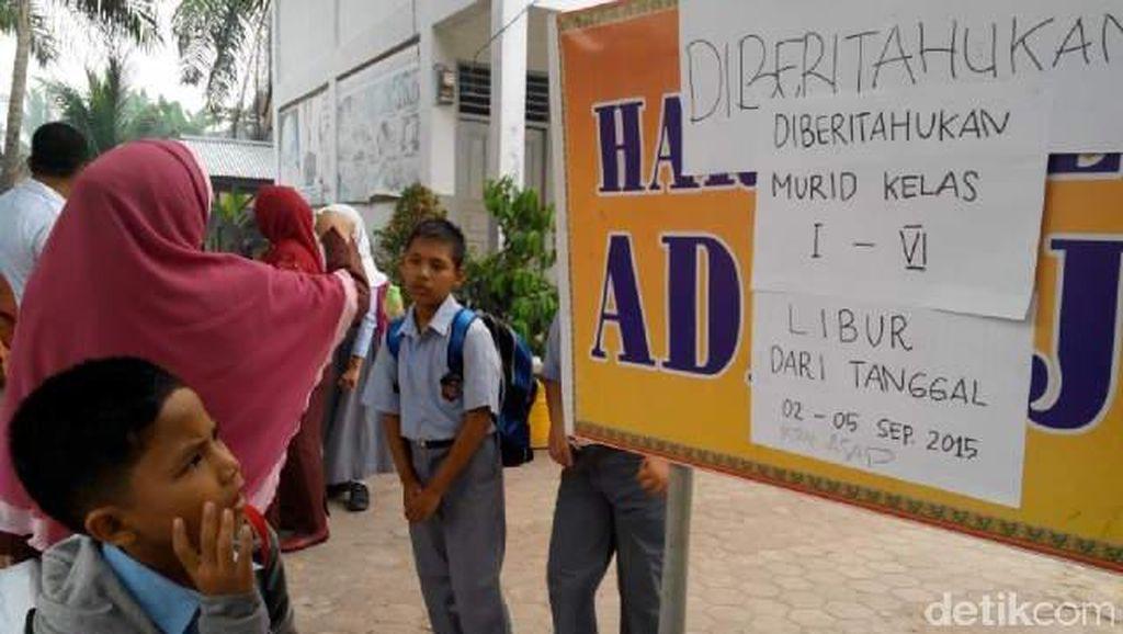 Udara Tidak Sehat karena Asap, Libur Sekolah di Pekanbaru Diperpanjang