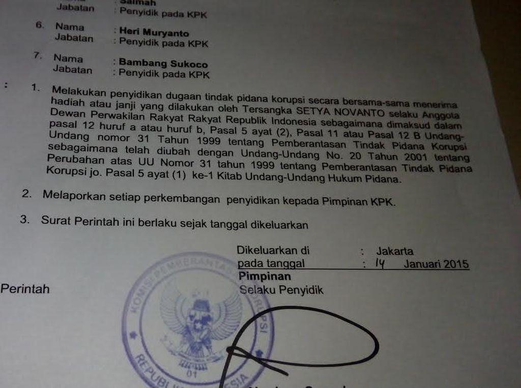 Hoax Sprindik KPK Tentang Setya Novanto Tersangka