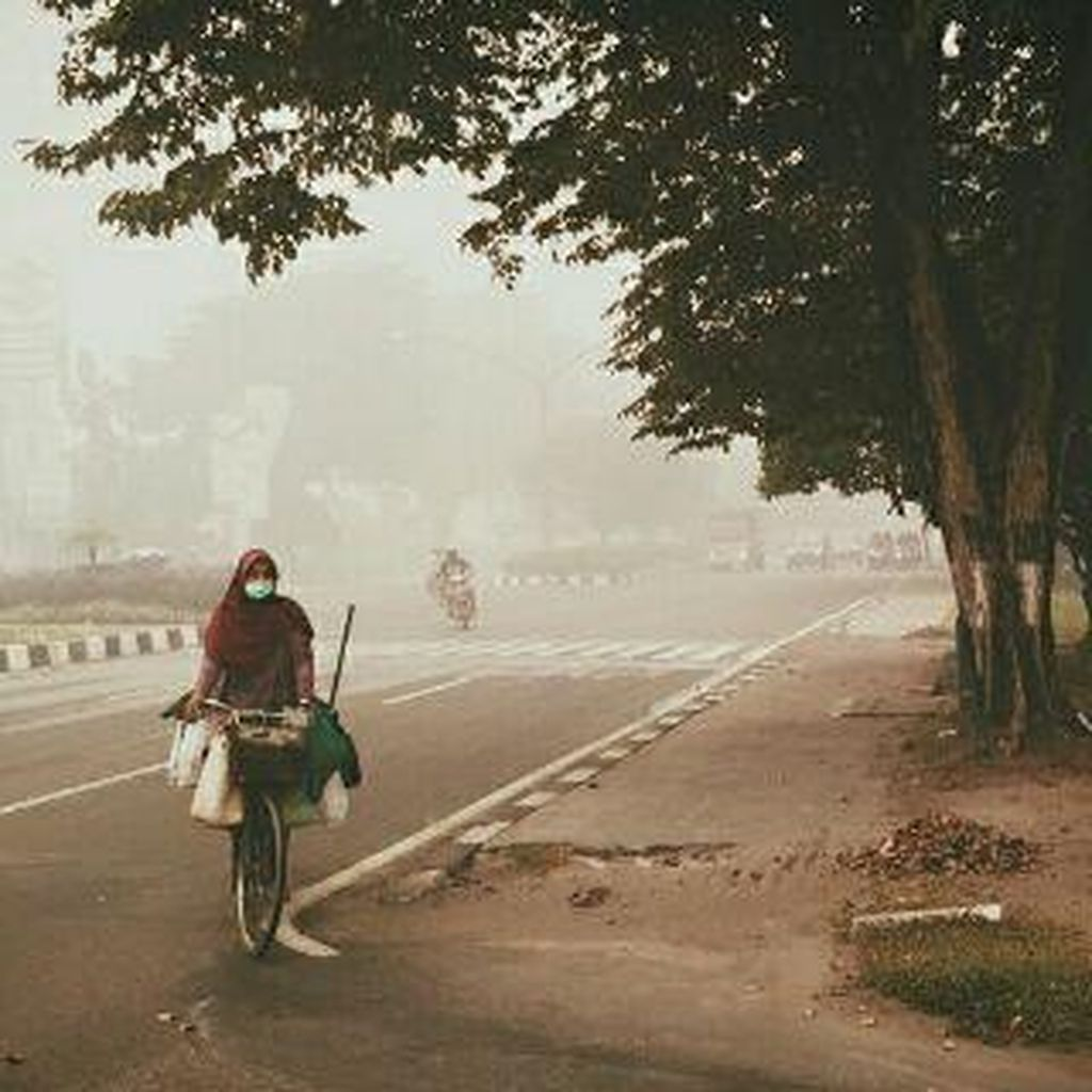 Kondisi Udara di Kalteng Sangat Tidak Sehat, Penderita ISPA Bertambah