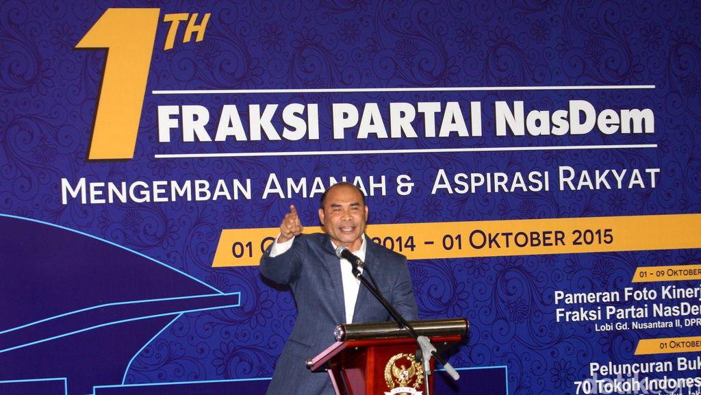 Ketua F-NasDem Bicara Ada Anggotanya yang Tergoda Politik Transaksional