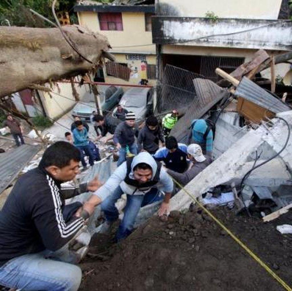 Tanah Longsor di Guatemala, 7 Tewas, 200 Orang Hilang