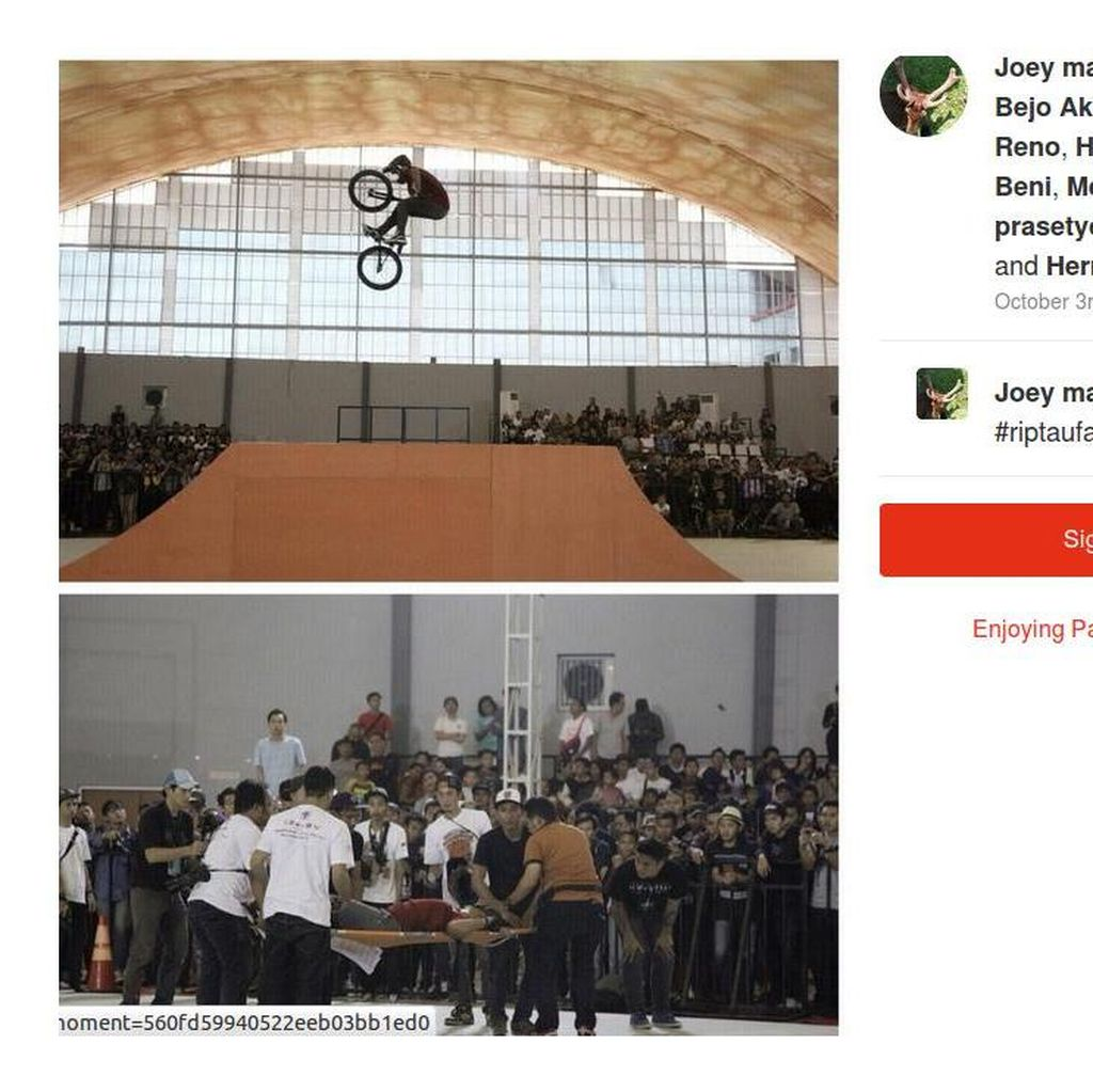 Pegiat BMX Indonesia Berduka Untuk Taufan: Selamat Jalan <i>Best Rider</i>