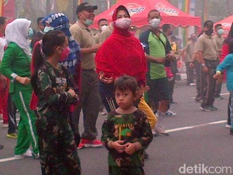 Gelar Acara di Tengah Kepungan Asap, Danrem Riau: Nggak Nyangka Begini