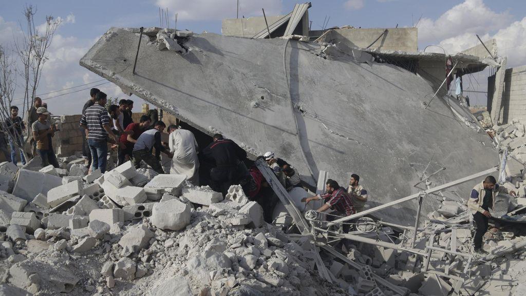 Setahun Terakhir, 3.800 Warga Sipil Suriah Tewas Akibat Serangan Udara Rusia