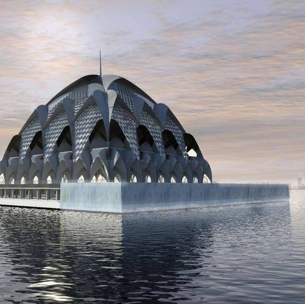 Aher Ingin Proyek Masjid Terapung di Gedebage Selesai Sebelum Ia Lengser
