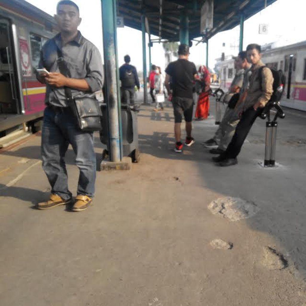 Wakwaw! Bangku di Peron Stasiun Manggarai Berganti Wujud dan ini Penampakannya