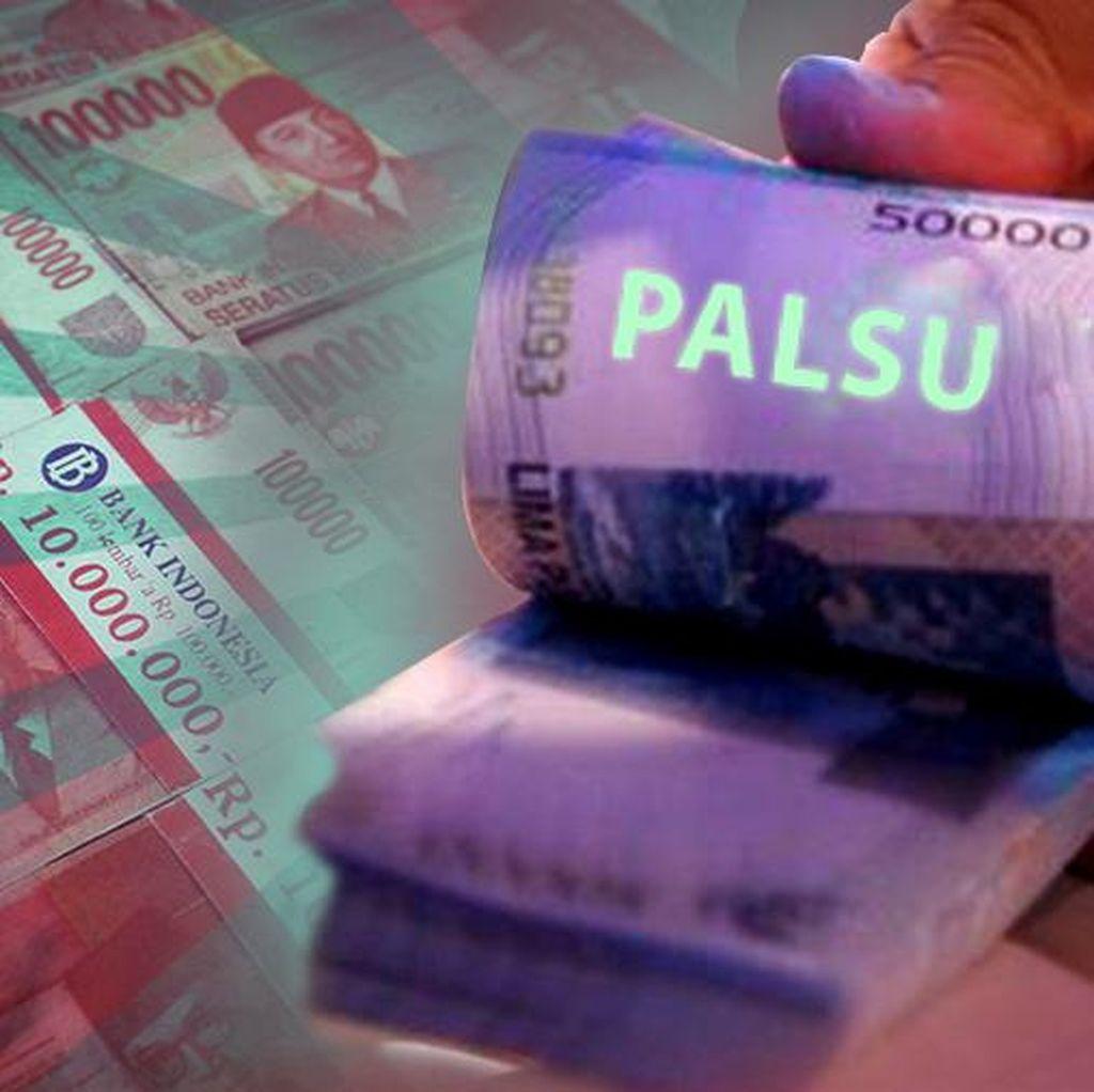 Uang Palsu yang Hendak Diedarkan Dayat dan Oding di Ciputat Punya Kualitas Bagus