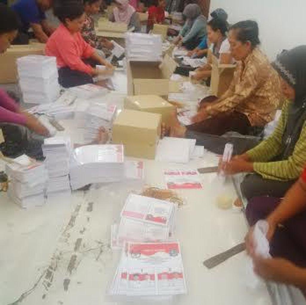 647 Surat Suara Rusak, KPU Surabaya Belum Minta Diganti