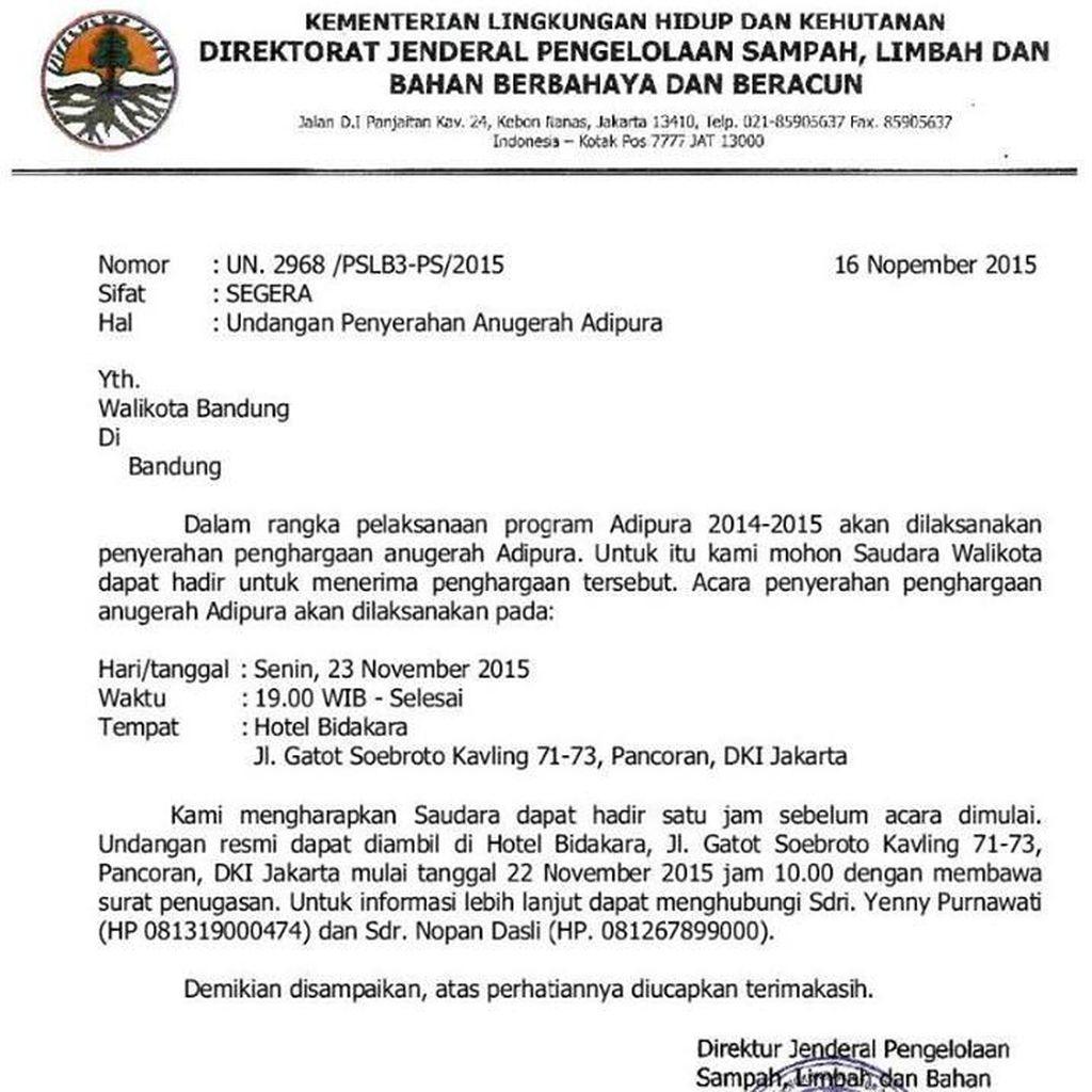 Piala Adipura Kota Bandung akan Diarak Keliling Kecamatan