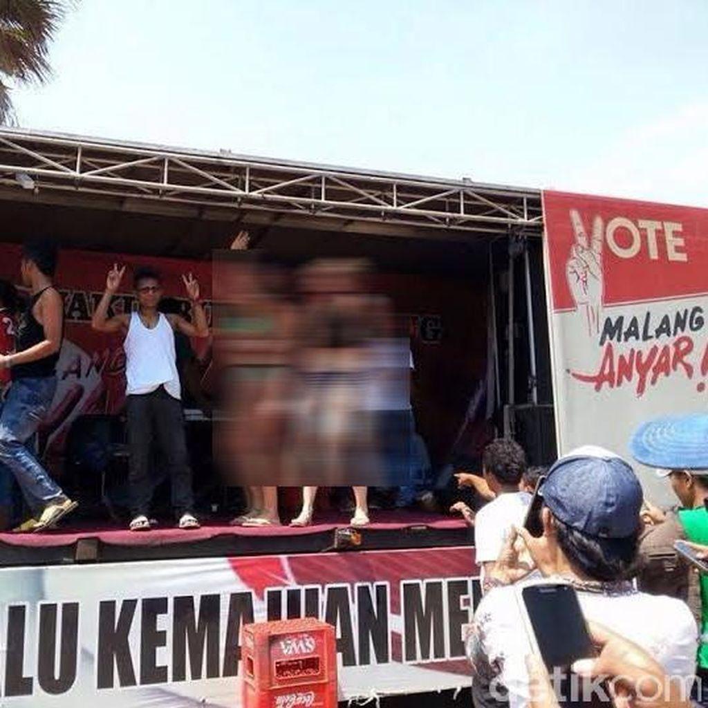 Polisi Belum Terima Laporan Foto Bule Berbikini di Kampanye Cabup Malang