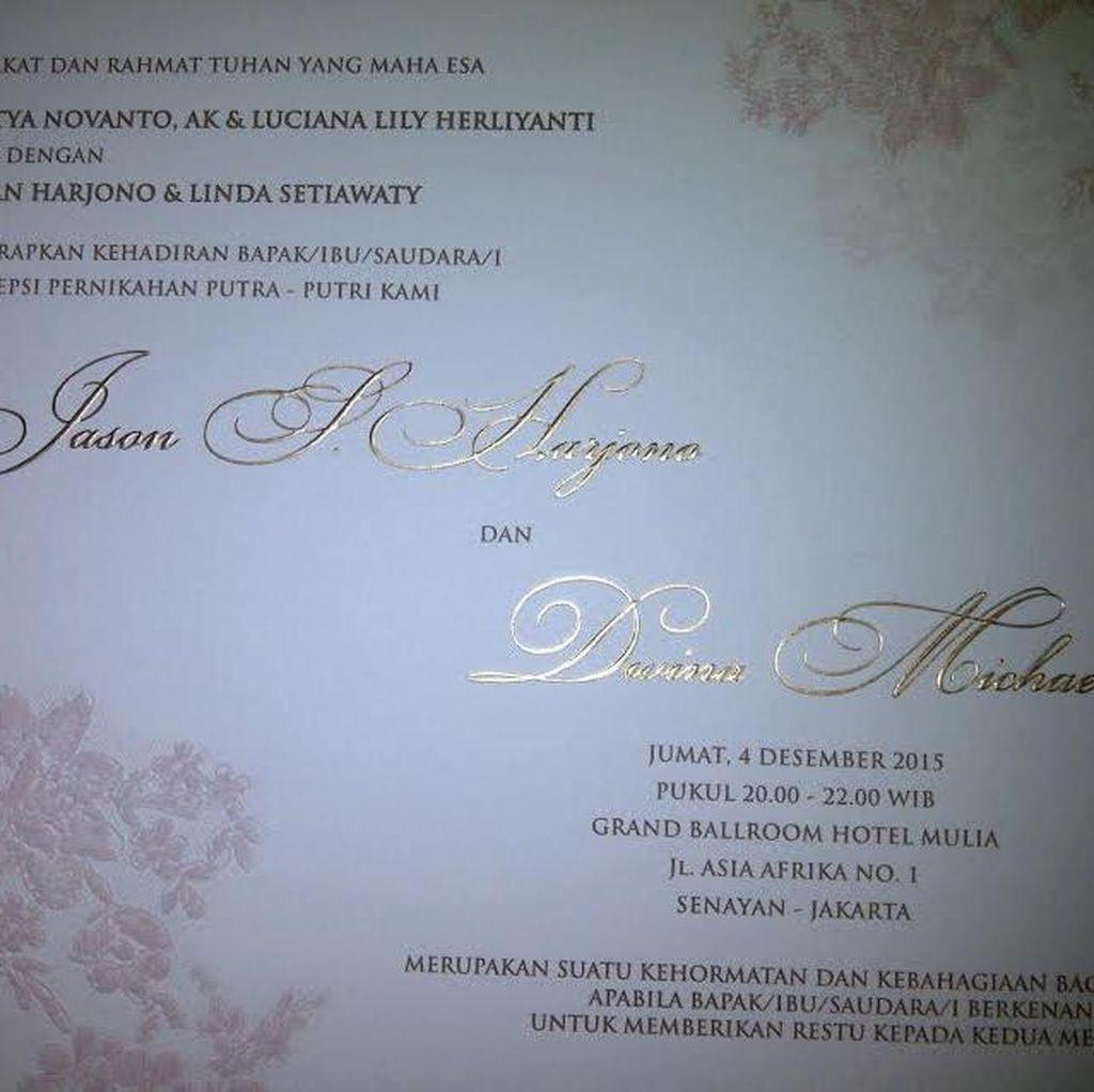 Ingat, Tak Perlu Bawa Kado ke Pernikahan Putri Novanto