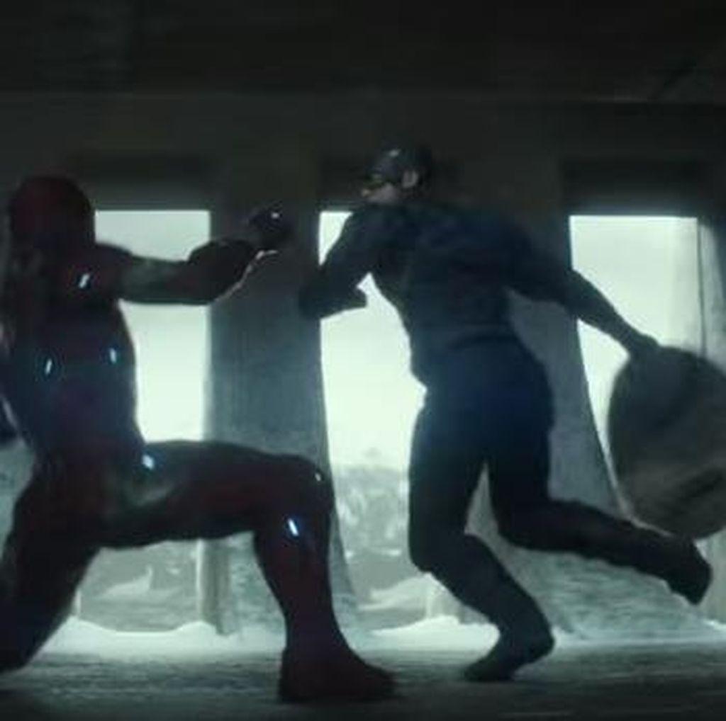 Ketika Iron Man Dikeroyok Captain America dan Winter Soldier