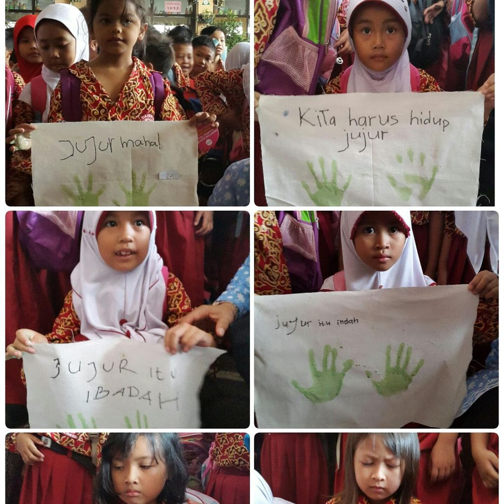 Ribuan Siswa SD di Bandung Cap 10 Jari Antikorupsi