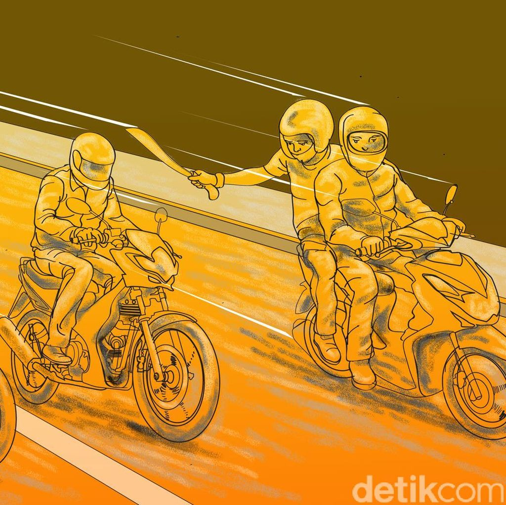 Kawanan Begal Motor Sadis Asal Lampung Dibekuk Polisi