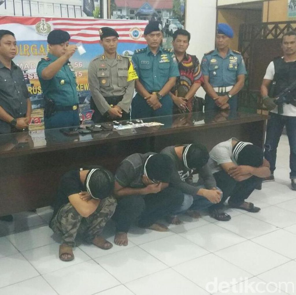 4 Pria Pengedar Sabu Ditangkap TNI AL di Tanjung Balai Sumut