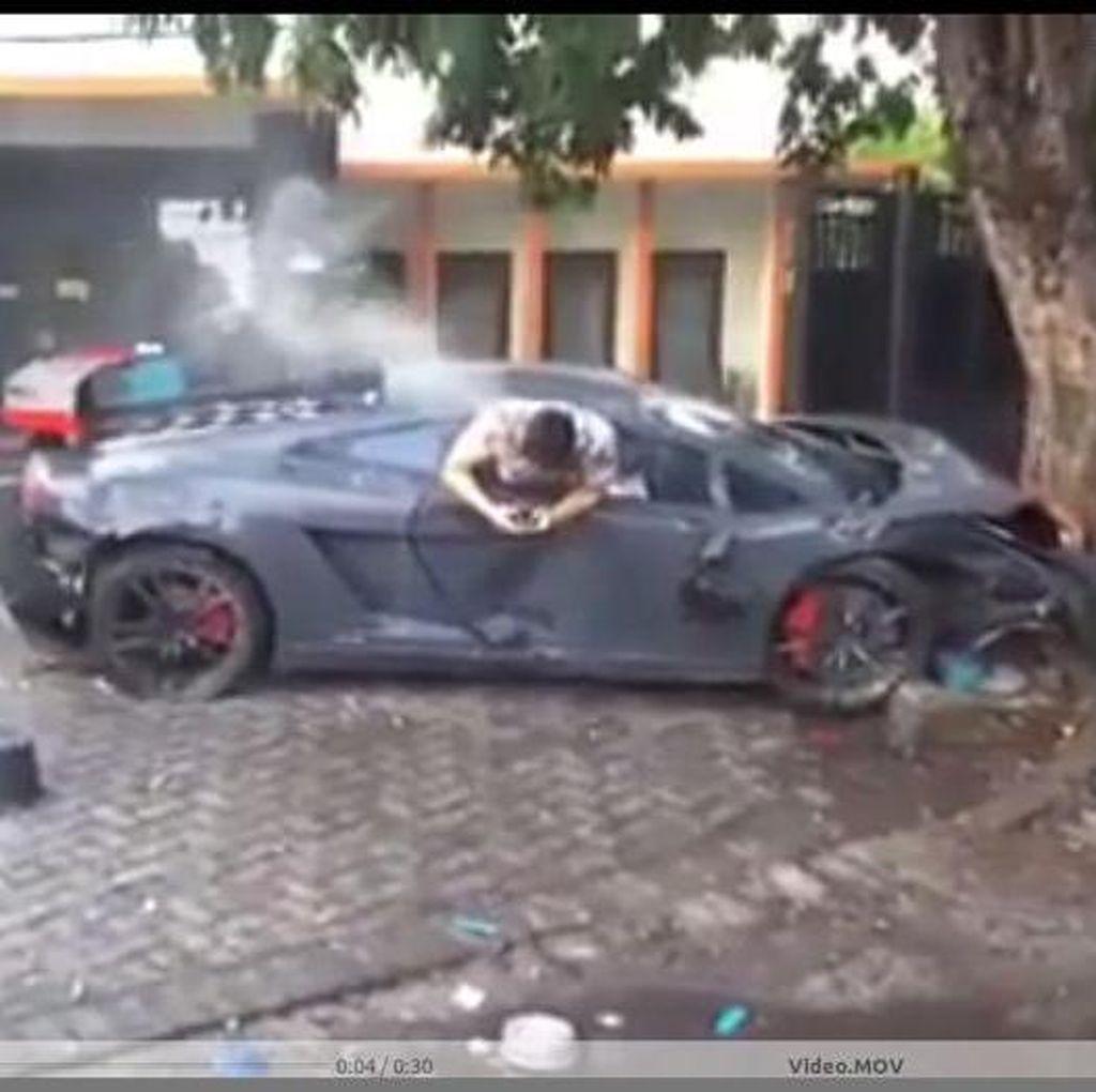 Polisi Panggil Sopir Supercar Warna Merah, Diduga Balapan dengan Lamborghini