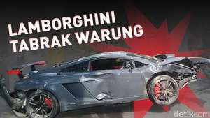 Lamborghini Tabrak Warung STMJ