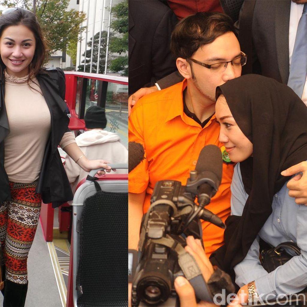 Gaya Ariel Tatum Liburan di Jepang, Sandy Tumiwa Kecup Istri di Polda