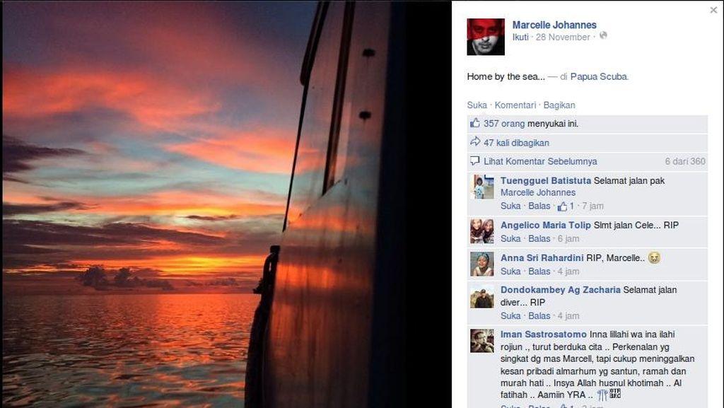 Status FB Terakhir Korban Kecelakaan Selam di Raja Ampat: Home by the Sea
