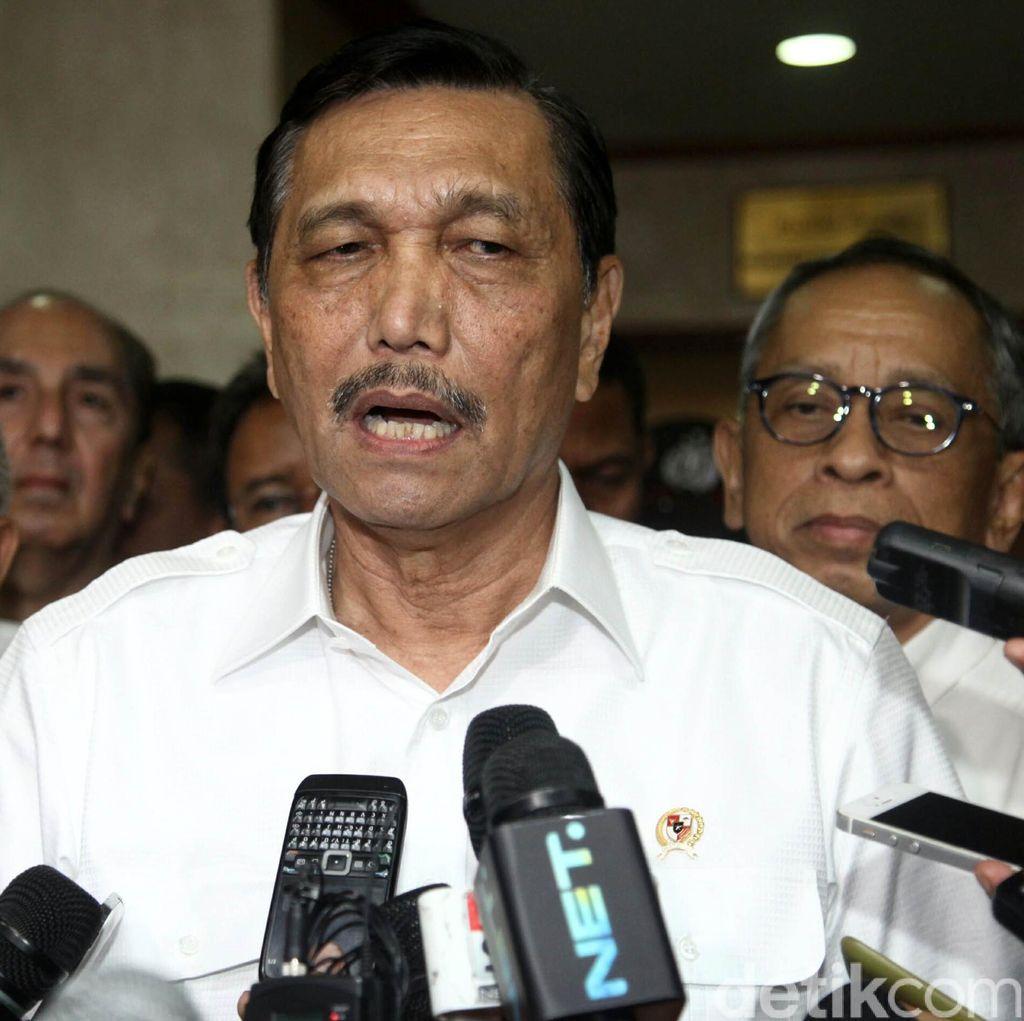 Luhut Gelar Rapat Evaluasi Pembebasan 10 WNI yang Disandera Abu Sayyaf Siang Ini