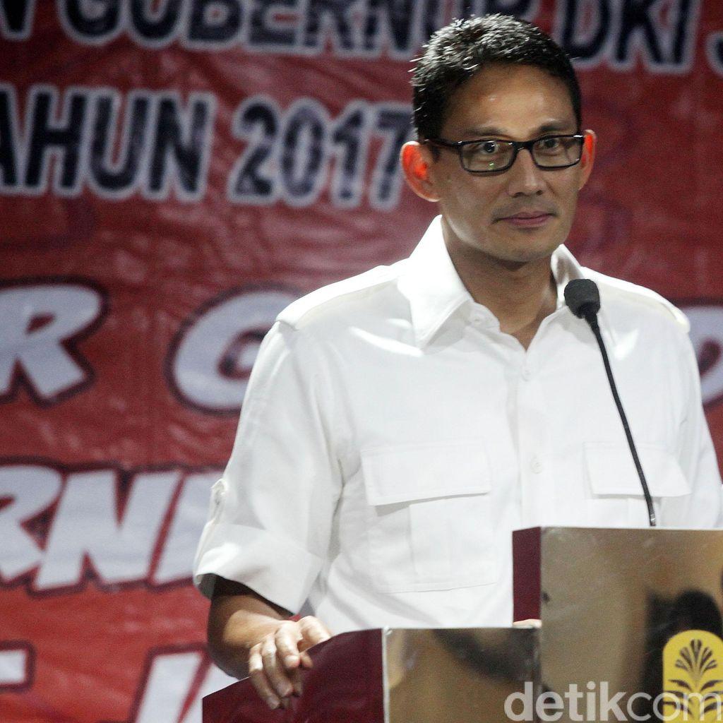 Sandiaga Uno: Ahok Kurang Harmonis dengan Warga Jakarta