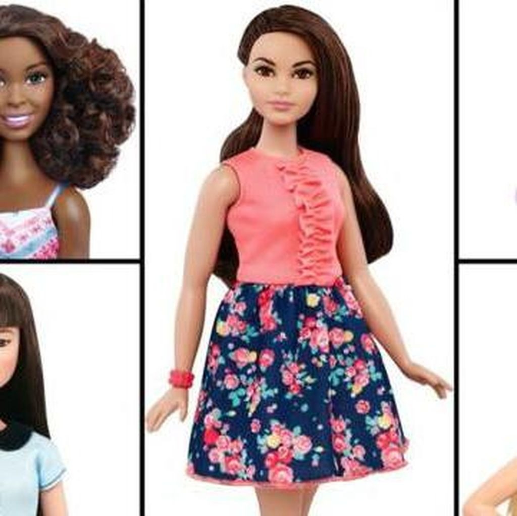Barbie dalam Bentuk Badan Jangkung, Kecil dan Berlekuk