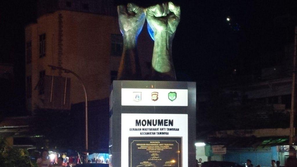 Tambora Punya Monumen 3 Tangan, Simbol Pemersatu Warga Anti Tawuran