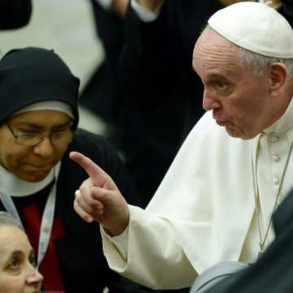 Paus Fransiskus Minta Suster dan Pastor Tak Sebarkan Bom Gosip